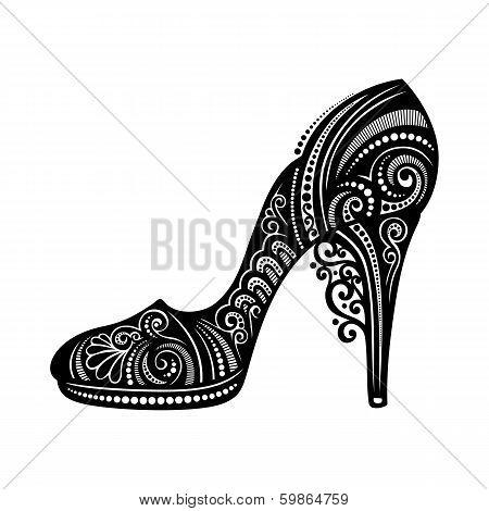 Vector Decorative Ornate Women's shoe