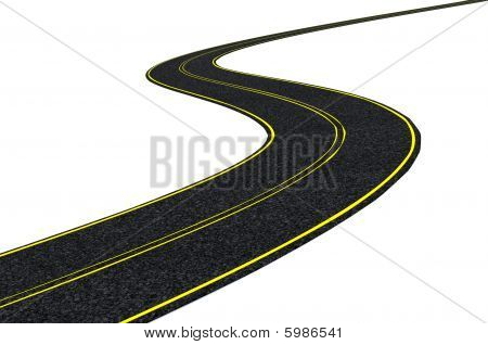 Blacktop Tarmac Road
