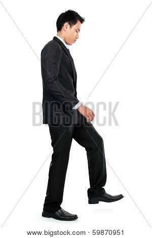 Businessman Up The Staircase
