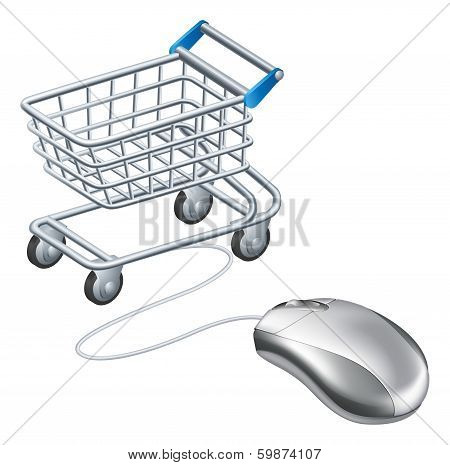 Online Shopping Cart Mouse