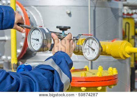 Worker In Oil Industry
