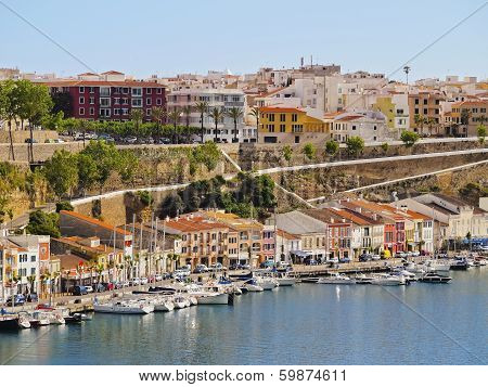 Cityscape Of Mahon On Minorca