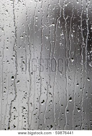 Water raindrops on glass