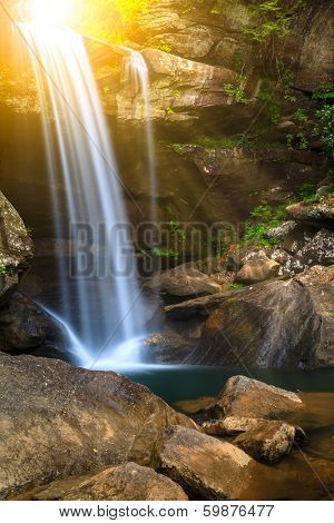 Long exposure image of Eagle Falls in Cumberland Falls State Resort Park, Kentucky