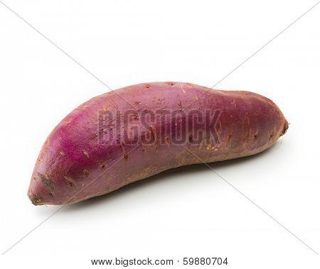 Yam, satsumaimo,or sweet potato isolated on white.