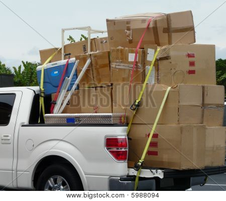 Truck With Moving Boxes
