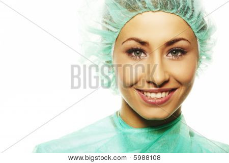 Image Of Beautiful Female Surgeon