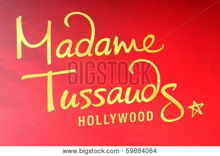 LOS ANGELES - FEB 13:  Madame Toussauds Hollywood Signage at the Sandra Bullock Wax Figure Unveiling by Madame Toussauds Hollywood on February 13, 2014 in Los Angeles, CA