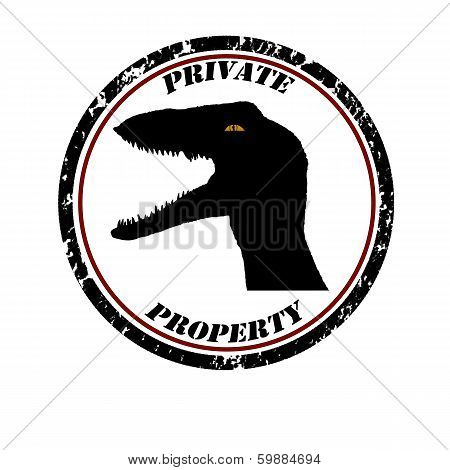 Private Property Stamp