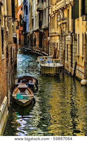 Venice, Italy, Grand Canal and historic tenements