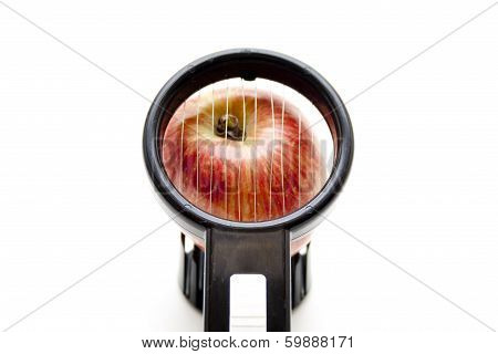 Apple with egg slicer
