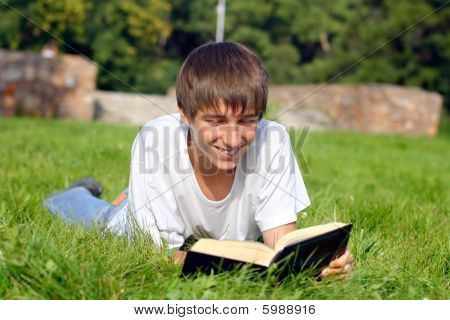 teenager reads book