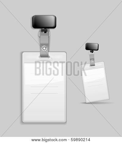 Blank identification card Badge ID template