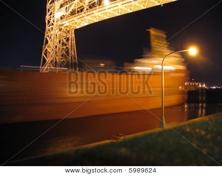 Evening Ship in Duluth
