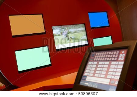 Tv Monitors In A Bookmaking Firm And Bets