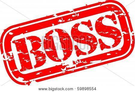 Grunge boss rubber stamp, vector illustration