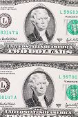 picture of two dollar bill  - Background of two - JPG
