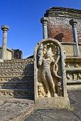 stock photo of polonnaruwa  - Polonnaruwa  ancient vatadage built for keeping secred tooth relic - JPG