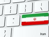 foto of iranian  - Abstract illustration of Iranian flag computer icon keyboard - JPG