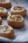 mini apple tarts with cinnamon