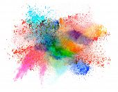 picture of fumes  - Launched colorful powder - JPG