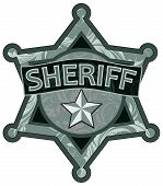 picture of sherif  - abstract image of a silver star sheriff without background - JPG