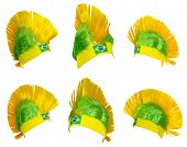 image of headgear  - Headgear for fans Brazilian national football team - JPG