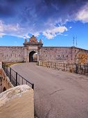 stock photo of mola  - Fortaleza de la Mola in Mao on Menorca Balearic Islands Spain - JPG