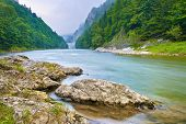 image of pieniny  - Stones on the riverbank in the mountains - JPG