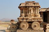 picture of chariot  - Vittalla temple in Hampi Chariot Karnataka India - JPG