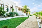 pic of hacienda  - Hacienda on a sandy beach facing Aegean sea in Thassos Greece - JPG