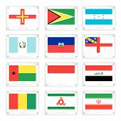 picture of guinea  - National Flags of Guernsey Guyana Honduras Guatemala Haiti Herm Guinea - JPG