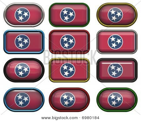 12 Buttons Of The Flag Of Tennessee