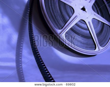Film Reel Blue
