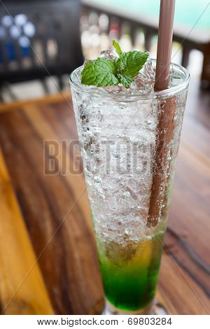 Fresh Cold Drink Peppermint Soda Water