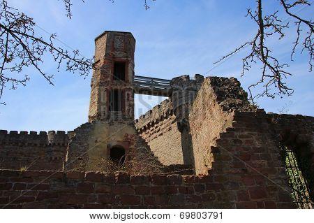 Ruined Dilsberg Castle