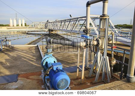 Big Tank Of Water Supply In Metropolitan Water Work Industry Plant Site