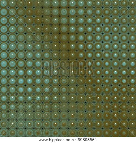 3D Glossy Abstract Tiled Bubble Background In Blue Brown