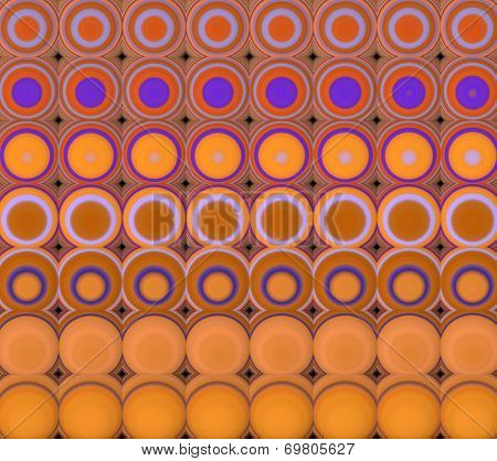 3D Abstract Tiled Mosaic Background In Orange Purple
