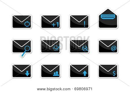 Set of email icons