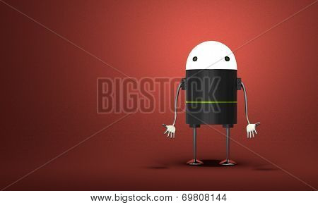 Discouraged Robot With Glowing Head