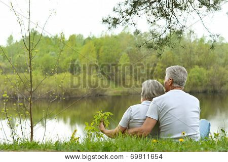 Senior couple near the river