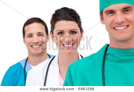 Portrait Of A Mixed Medical Team