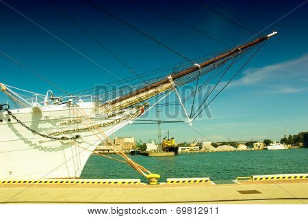 View Of The Bow Of A Yacht