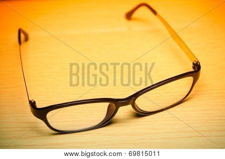 Clear Eyeglasses Glasses With Black Frame Fashion Vintage Style
