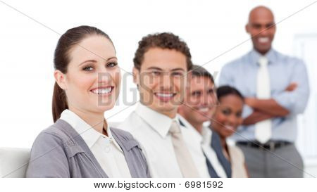 Confident International Business People At A Presentation