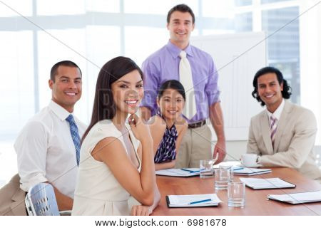 International Business Associates In A Meeting