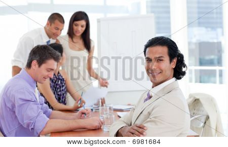 Multi-ethnic Business Associates In A Meeting
