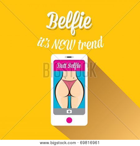 Taking Belfie Photo on Smart Phone