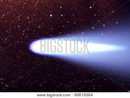 Comet Hale Bopp In The Night Sky